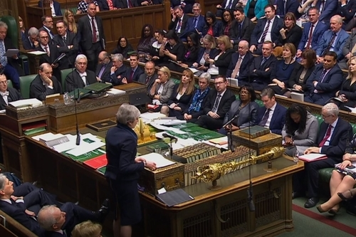 Prime Minister Theresa May addressing the House of Commons.