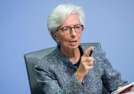 European Central Bank President Christine Lagarde announcing the bank's emergency program last Wednesday.