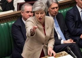 Prime Minister Theresa May addressing the House of Commons today after rejection of the UK-EU withdrawal agreement.