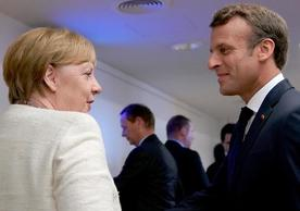 German Chancellor Angela Merkel and French President Emmanuel Macron at last Thursday's European Council meeting