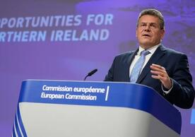EU Commission Vice President Maroš Šefčovič announcing the Commission's proposals for Northern Ireland yesterday.