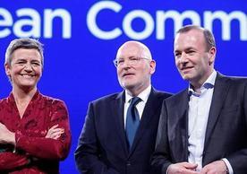 Margrethe Vestager, Frans Timmermans and Manfred Weber: Possible candidates for European Commission President