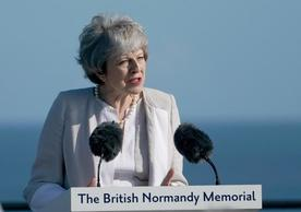 Prime Minister Theresa May at the inaugural ceremony of the British Normandy Memorial, June 6, 2019.